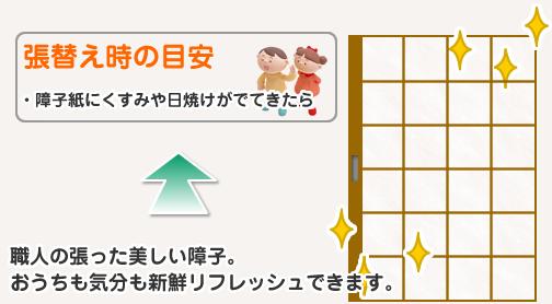 【障子張替え】